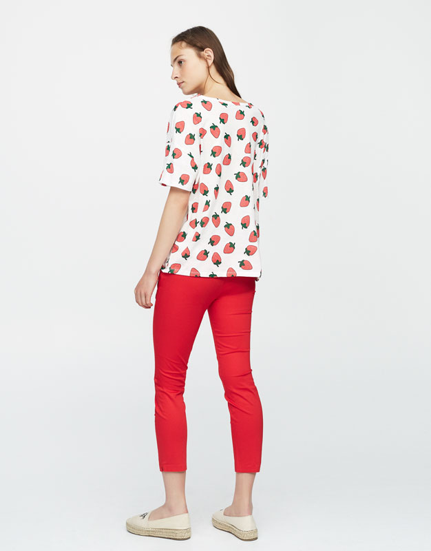 T-shirt allover fraises