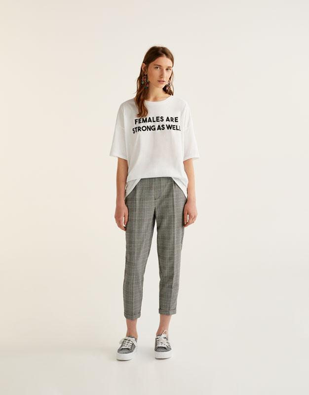 Camiseta mensaje mujer blanca