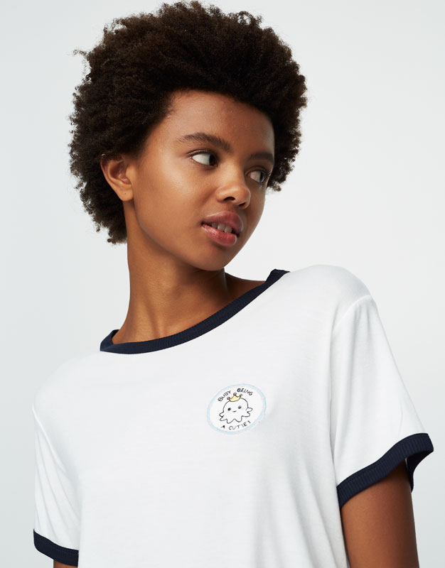Octopus patch T-shirt