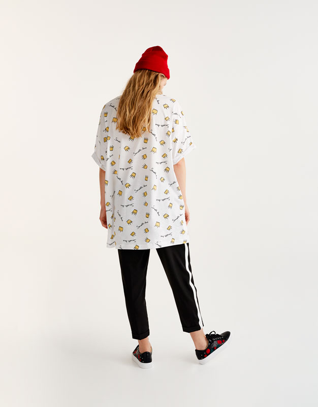 T-shirt with all over crown print