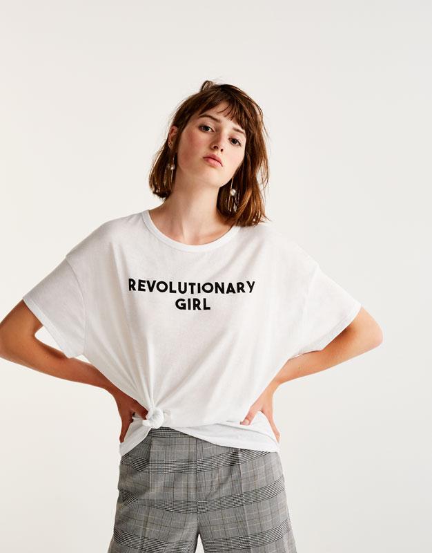 Camiseta texto mensaje