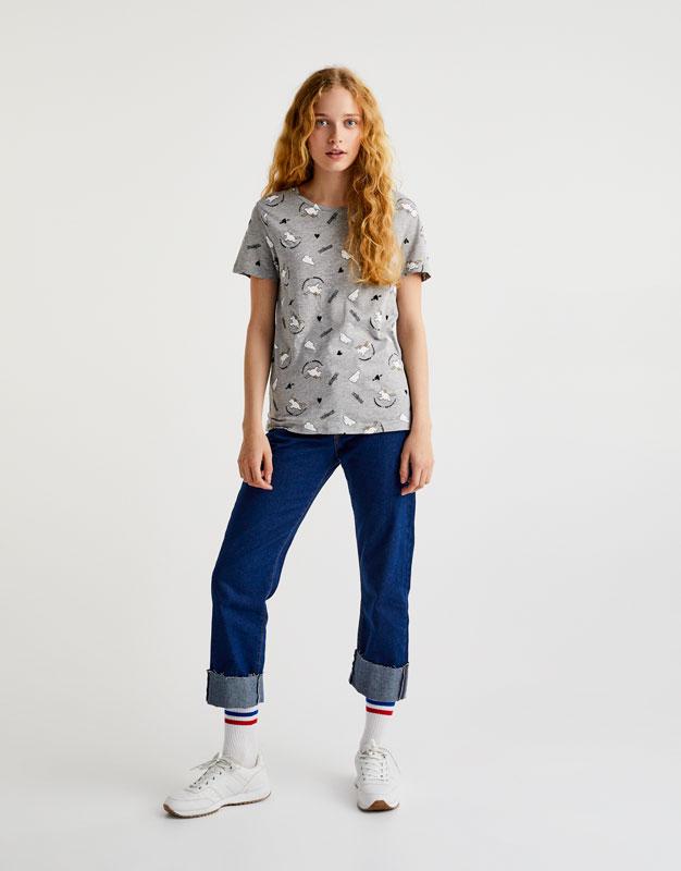 Unicorn print T-shirt