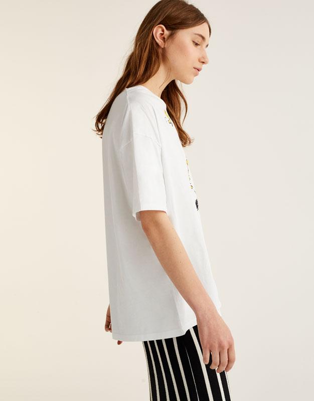 Camiseta Snoopy oversize