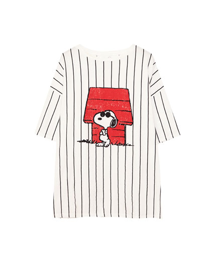 Striped oversized Snoopy T-shirt