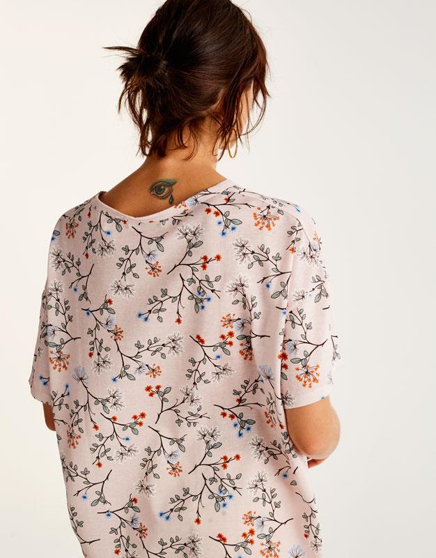 All over flower print T-shirt