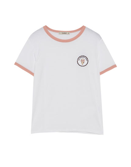 T-shirt with ice cream patch