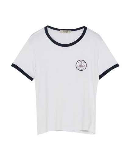 T-shirt with UFO patch