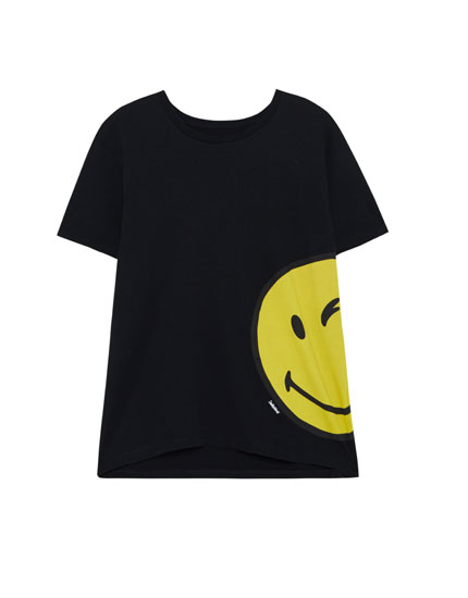Winking smiley face T-shirt