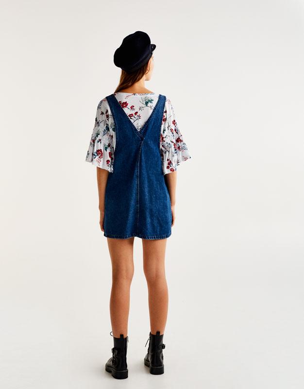 Shirt mit Blumen- und Streifenprint