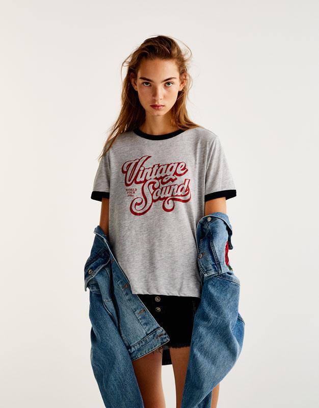 Camiseta retro texto