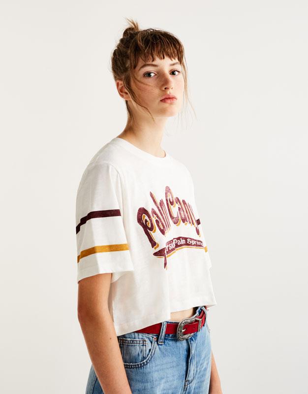 Camiseta texto palm canyon