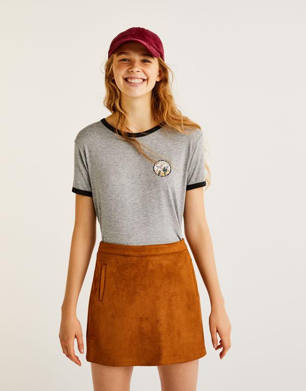 'Love' patch T-shirt