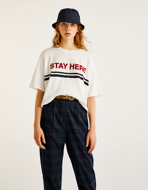 'Stay here' T-shirt
