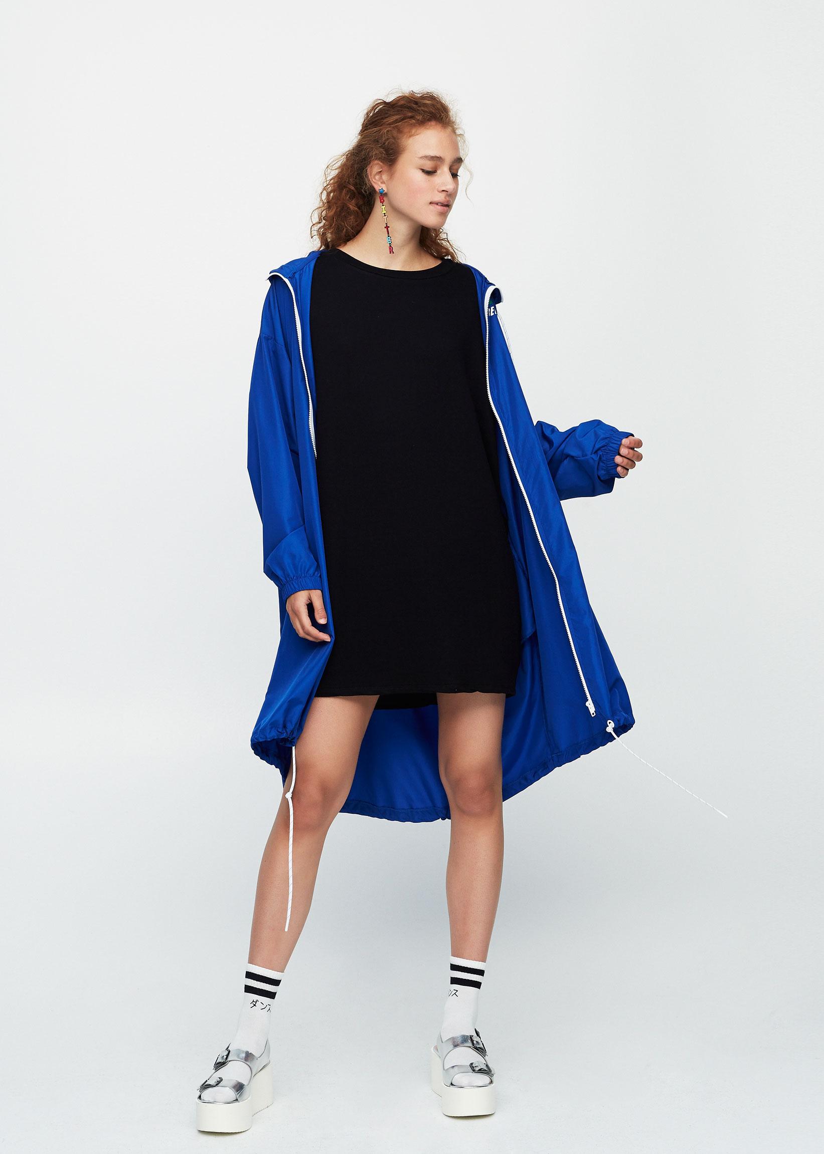 Kakigrünes Kokon-Kleid