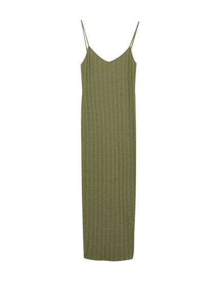 Dress with thin straps