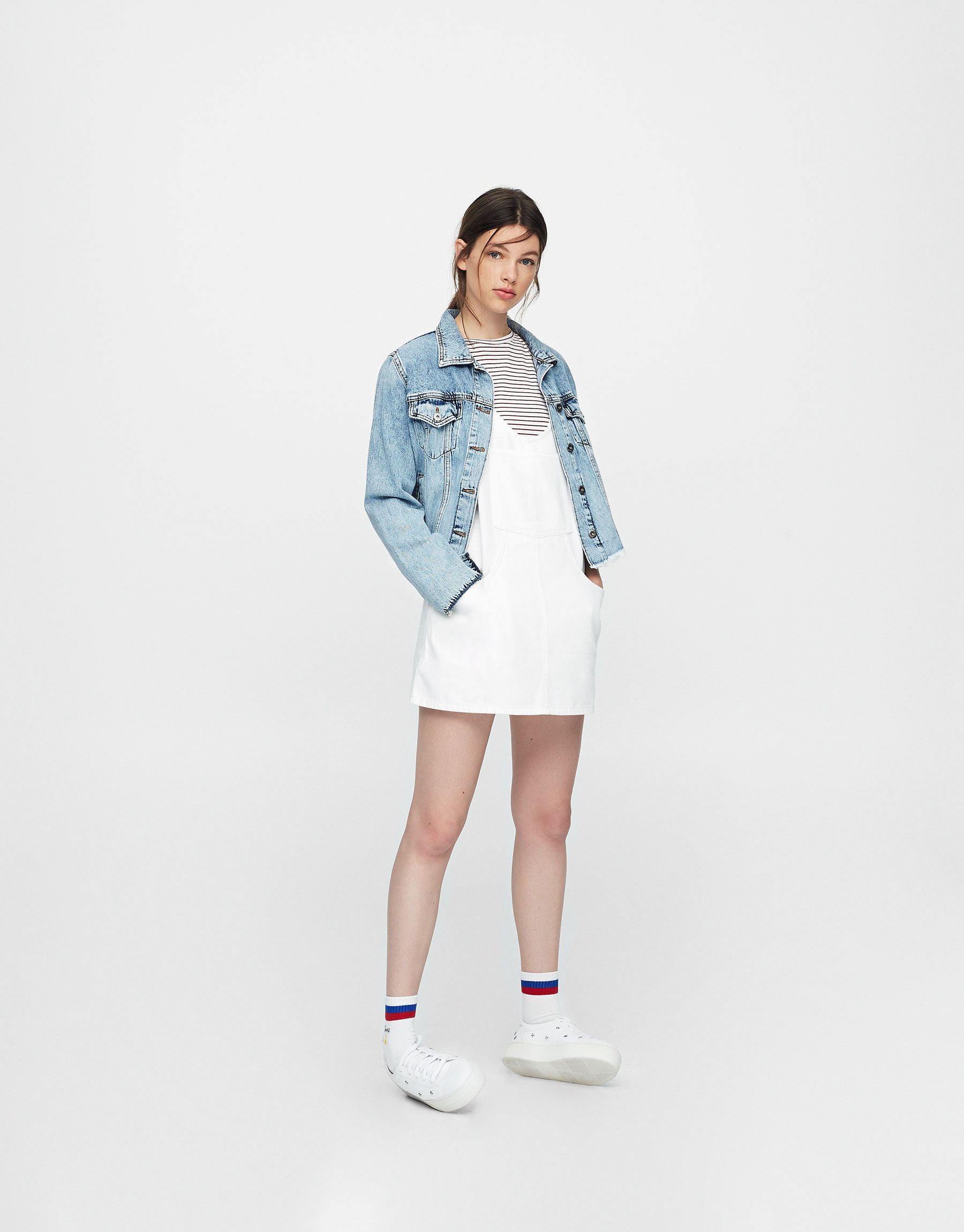 Jeans-Trägerkleid