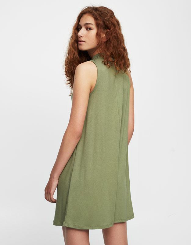 Flowing choker neck dress