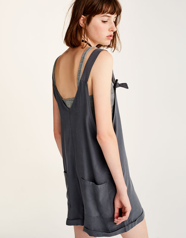 Button-up dungarees