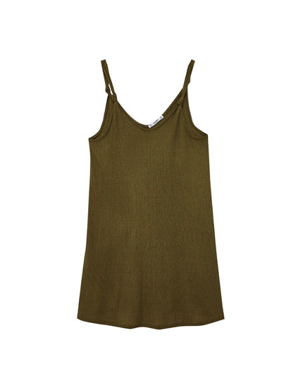 Knotted A-line dress