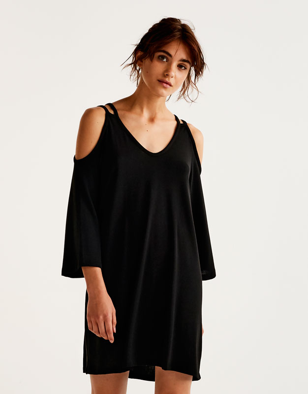 Robe cut out à col en V