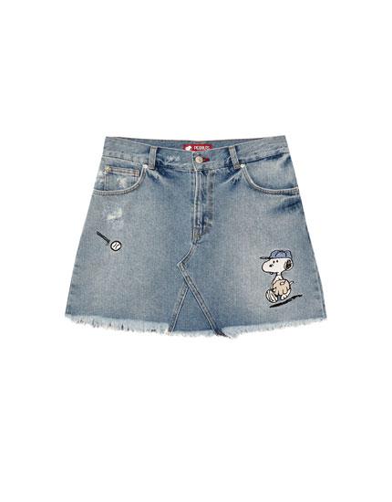 Jupe jean Snoopy