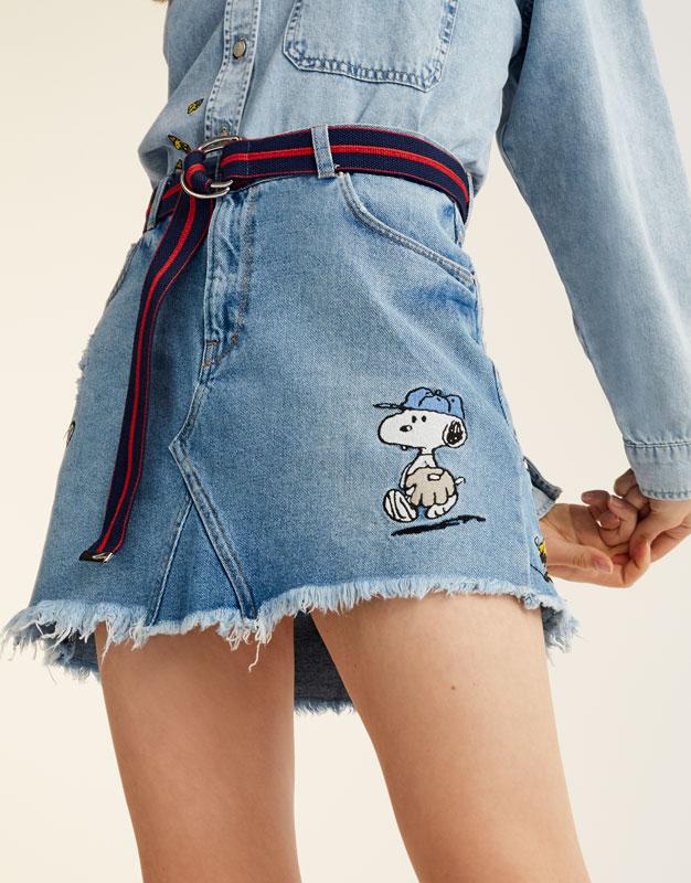 Falda denim Snoopy