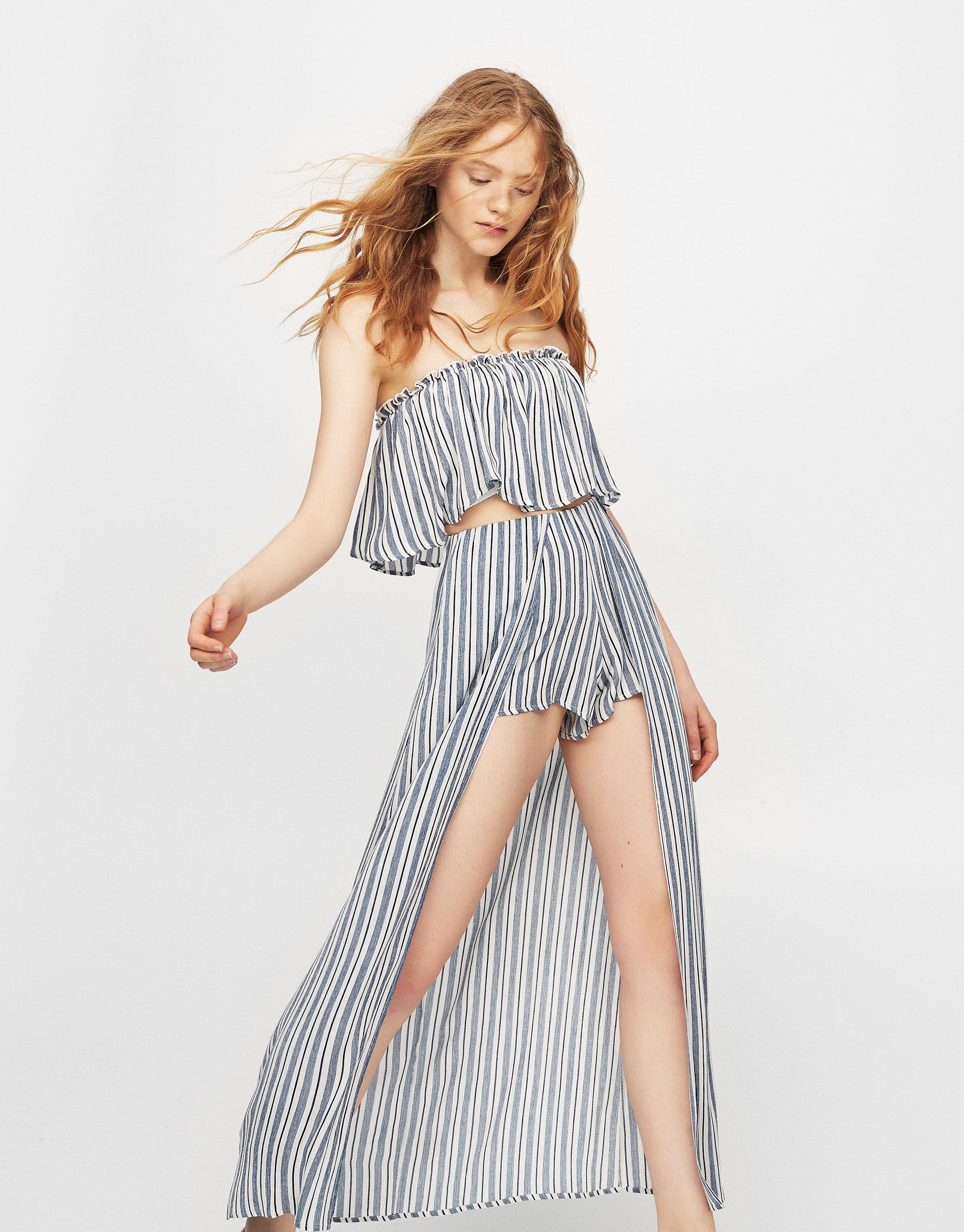 Striped skorts