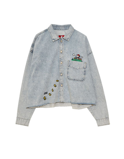 Camisa denim Snoopy