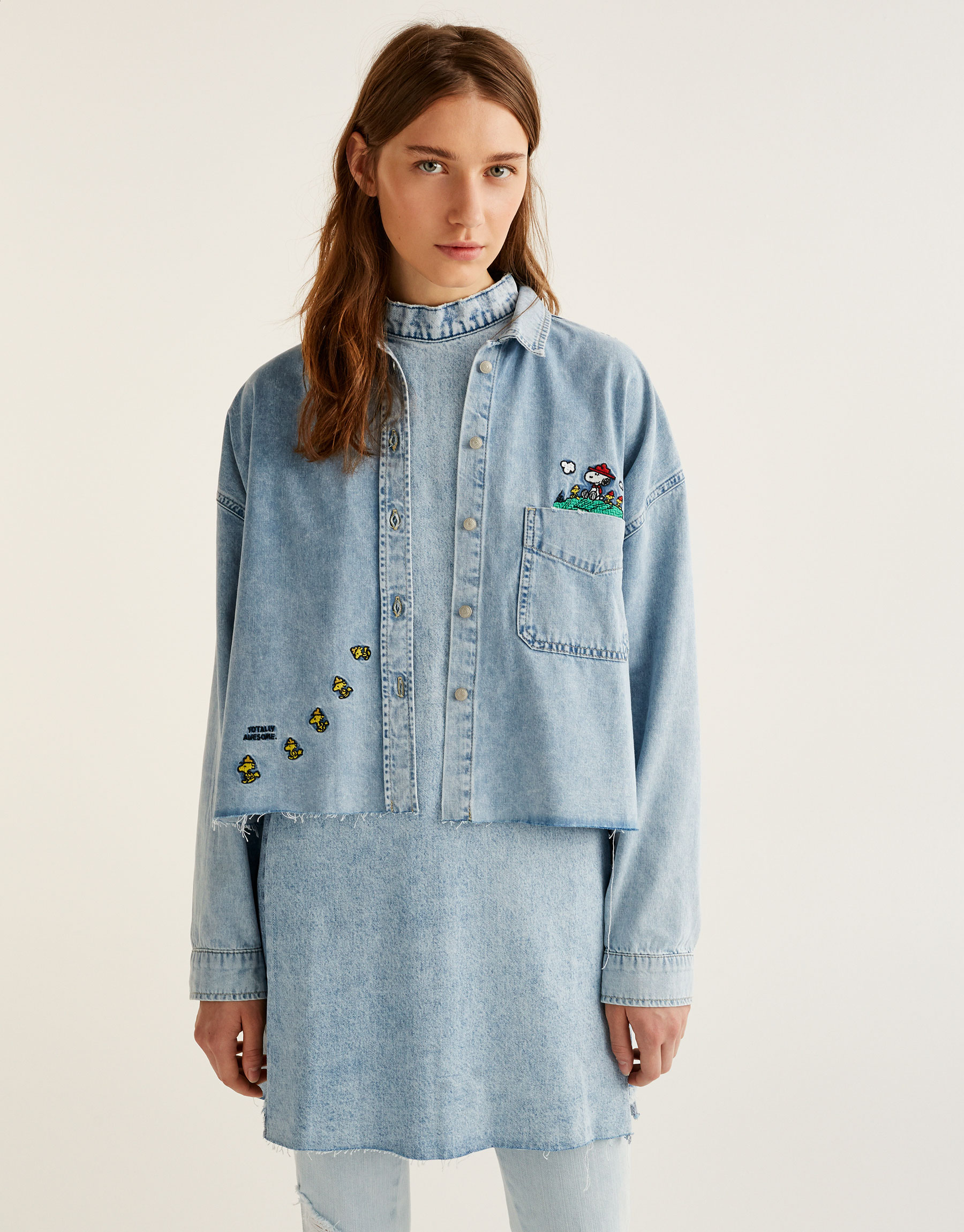 Denim Snoopy shirt