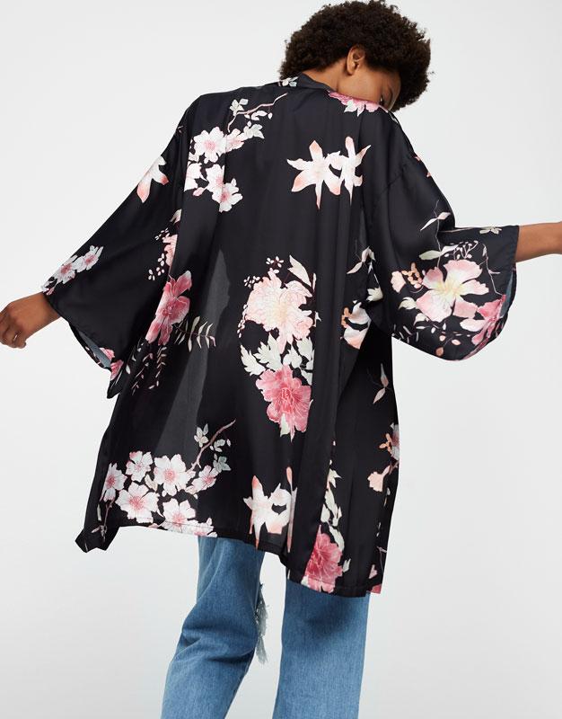 Kimono mit Blumenprint