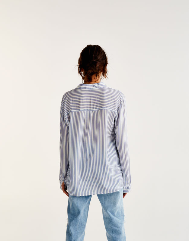 Printed shirt with pocket