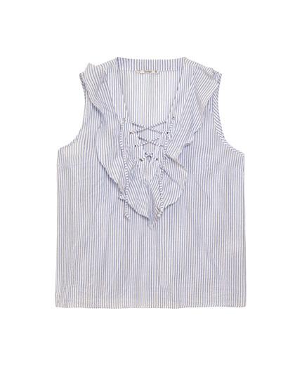 Camisa popelín escote corsario
