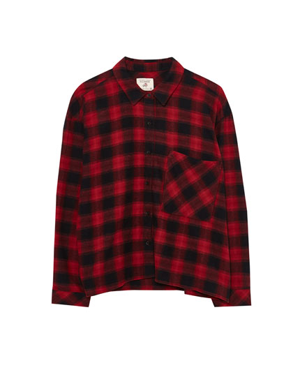 Checked cropped shirt