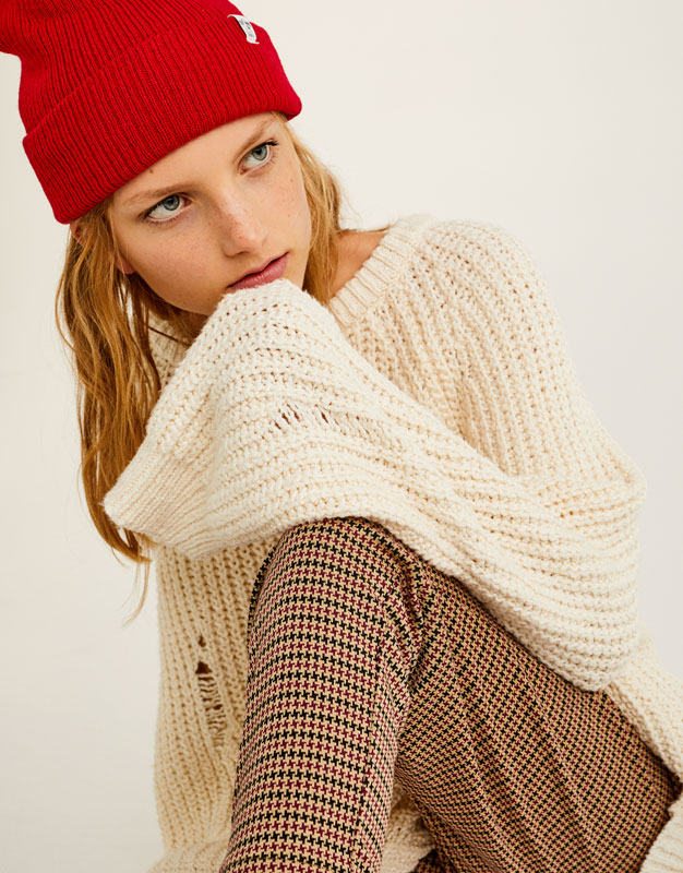 Oversized ripped sweater