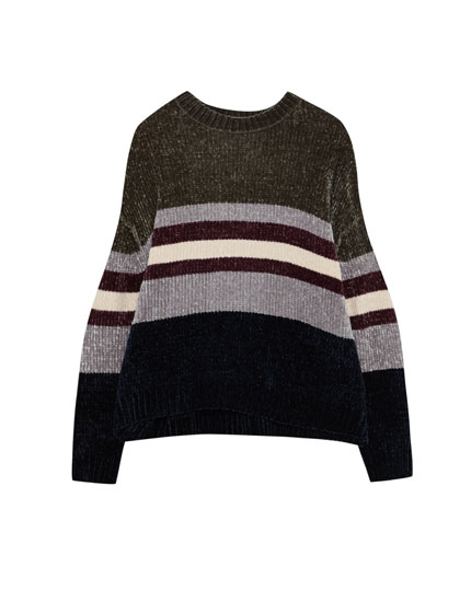 Pull chenille ouvertures