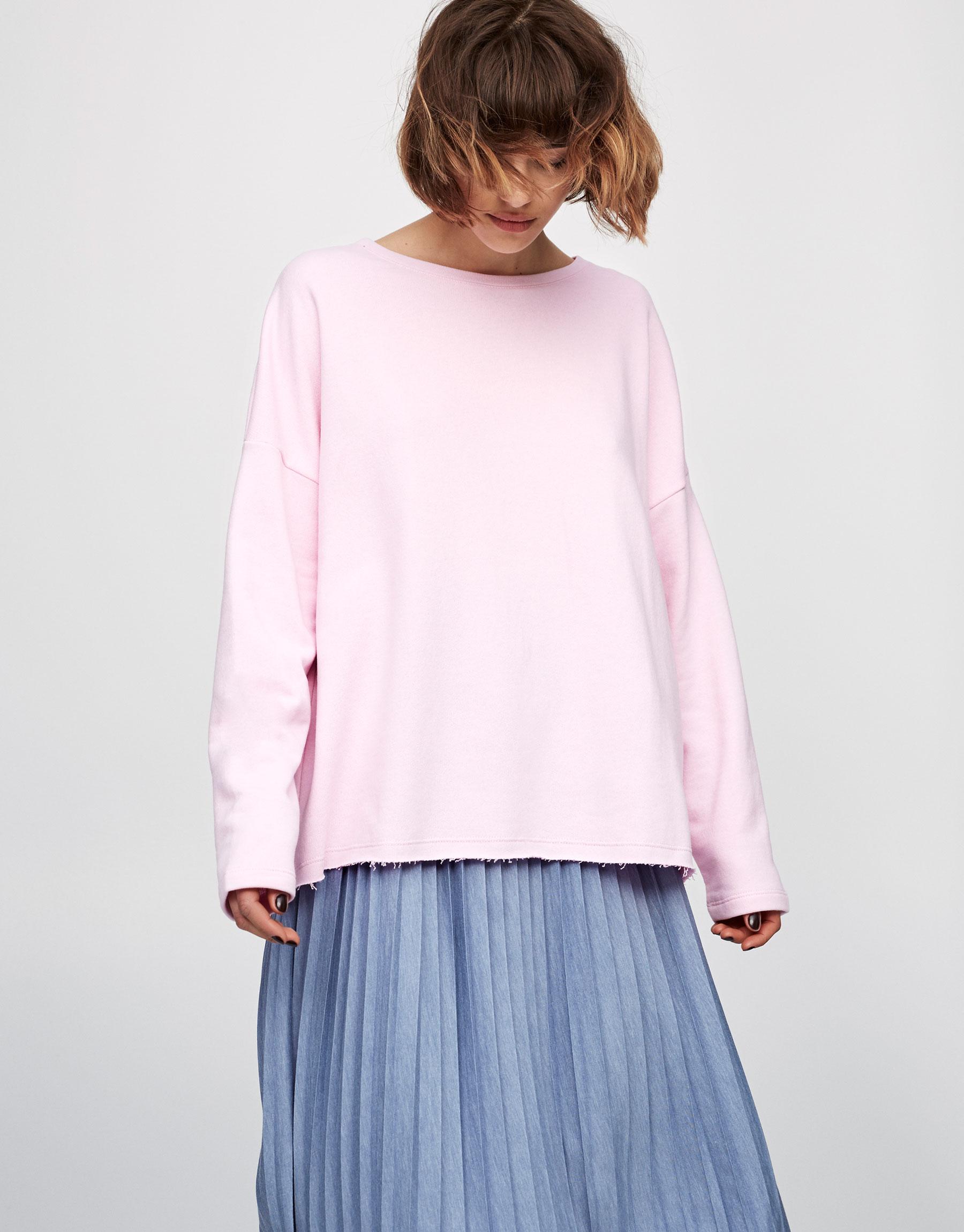Sweatshirt mit Rundbiese
