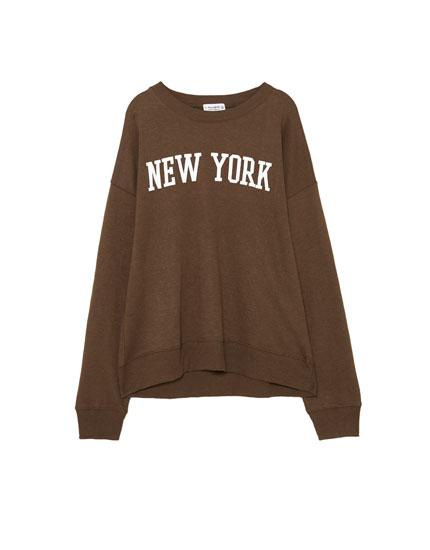 'New York' sweatshirt
