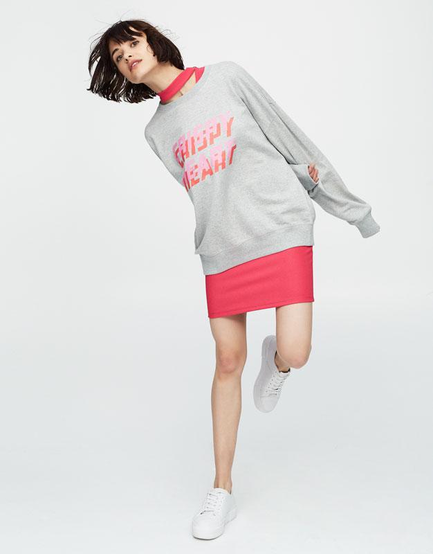 Sweatshirt with slogan