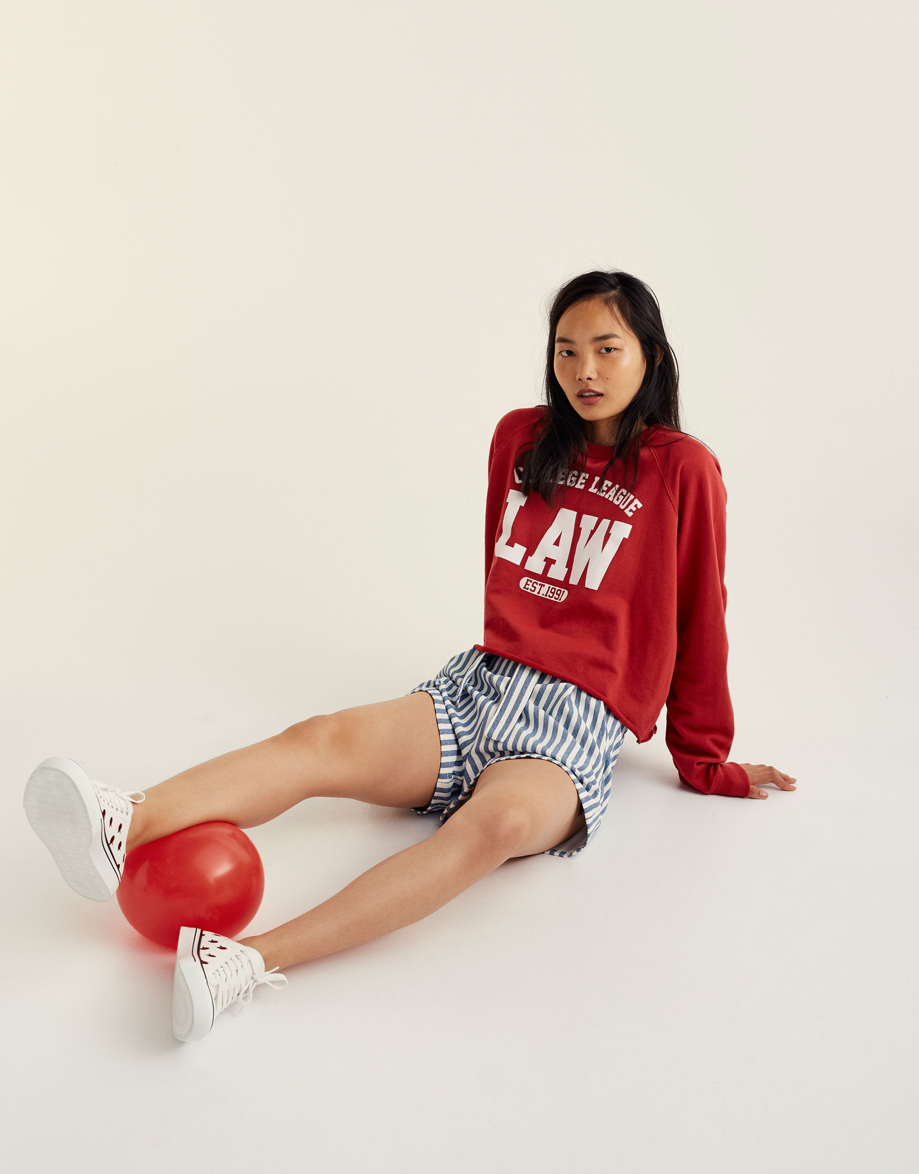 Printed 'College League' sweatshirt