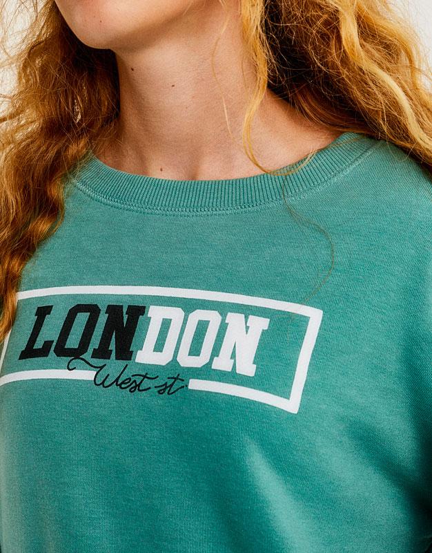Sweatshirt with 'London' slogan