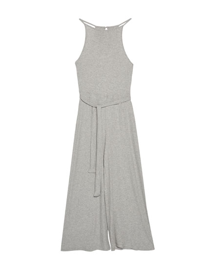 Gerippter Culotte-Overall