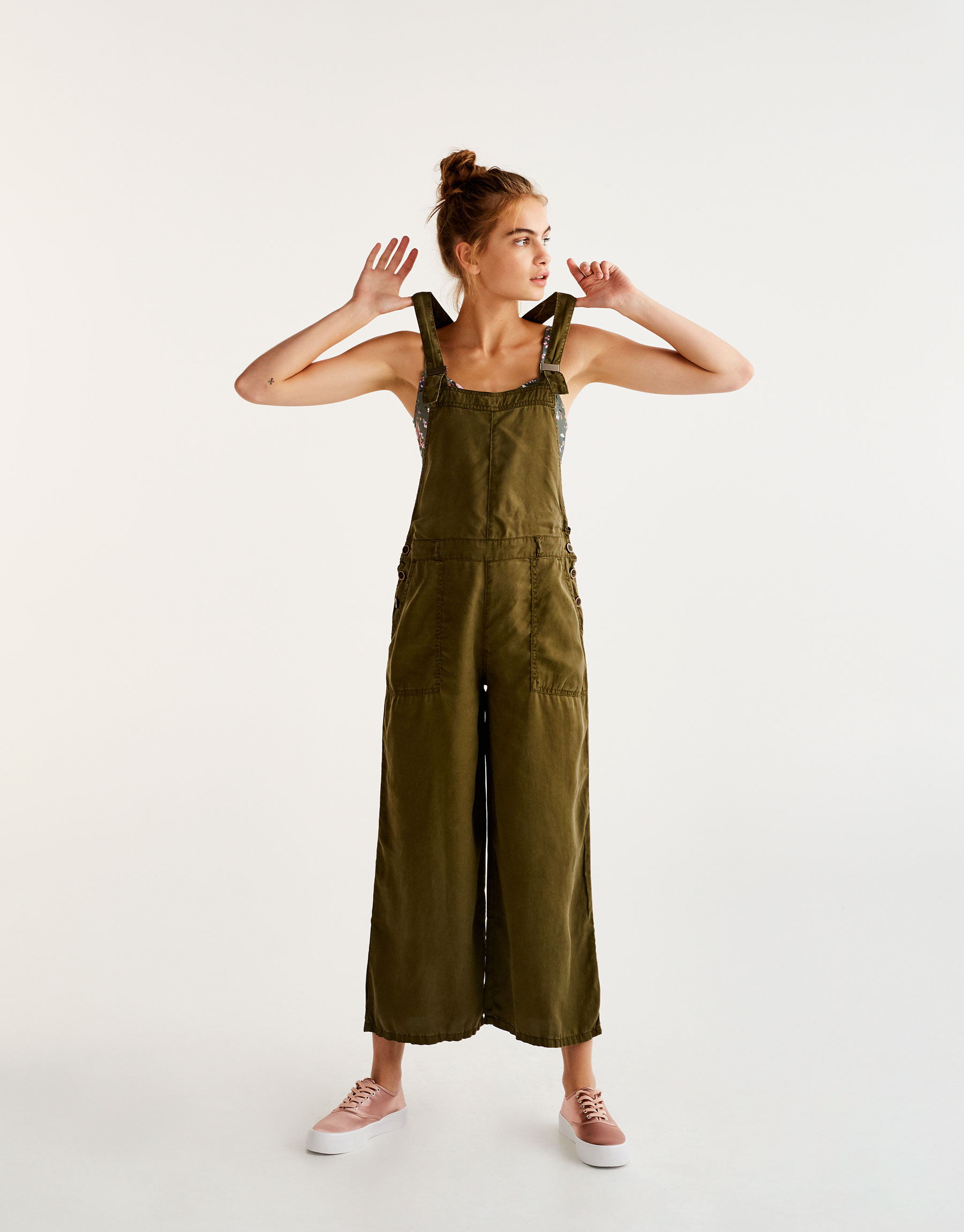 Long A-line dungarees