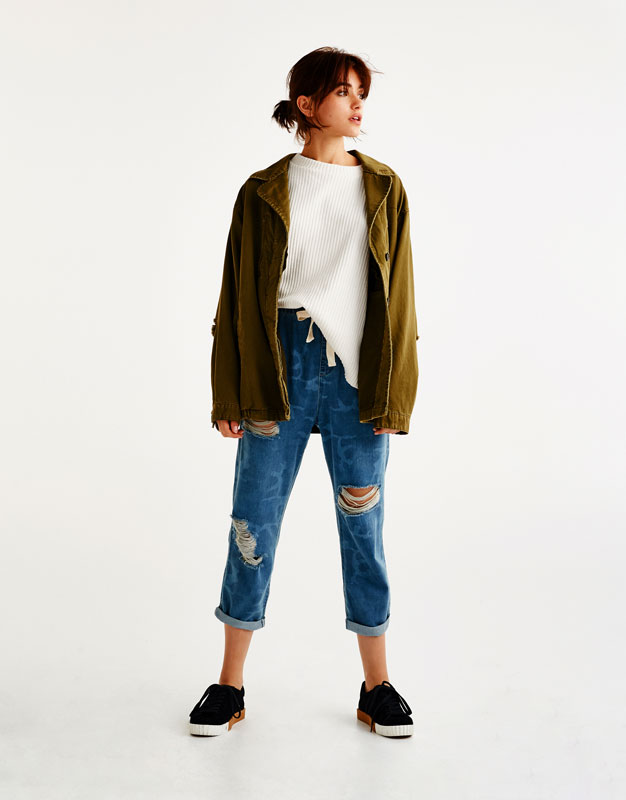 Jeans baggy fit camuflaje