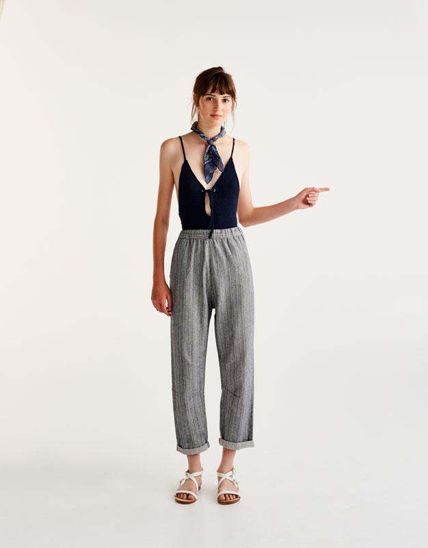 Drawstring jogging trousers