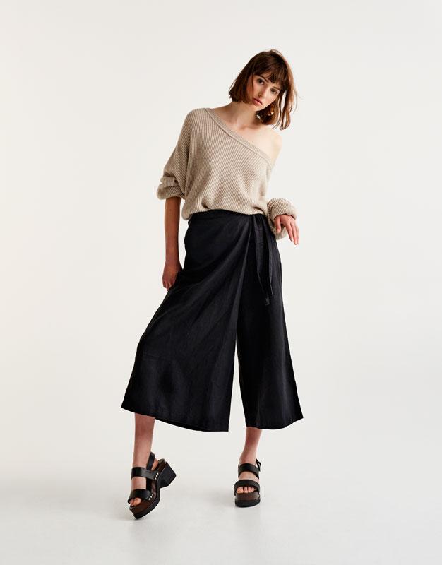 Culotte-Hose mit seitlicher Schleife zum Binden