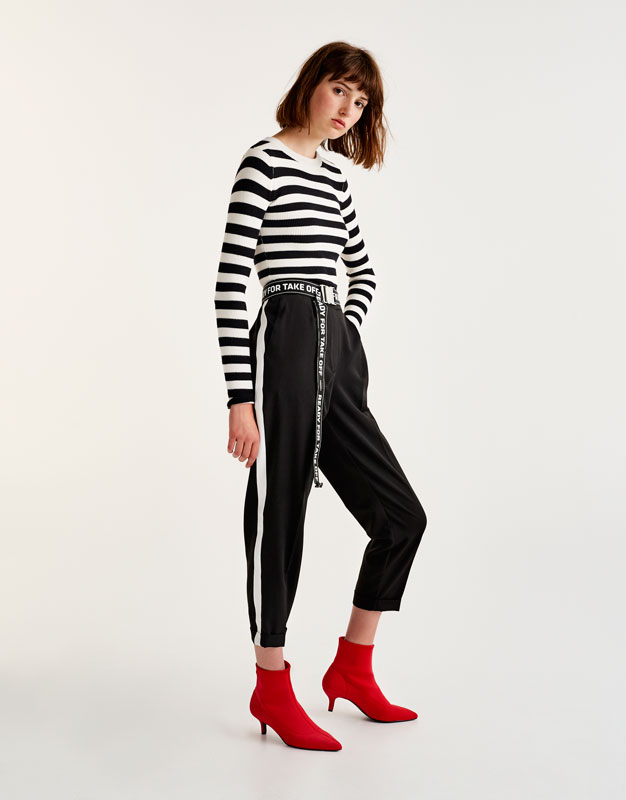Tailored jogging trousers with side stripe