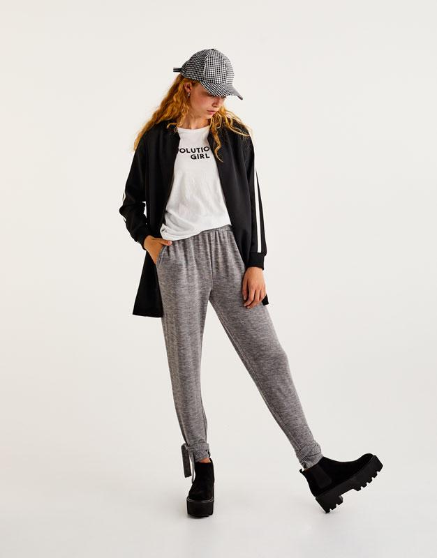 Pantalon jogging bas noué