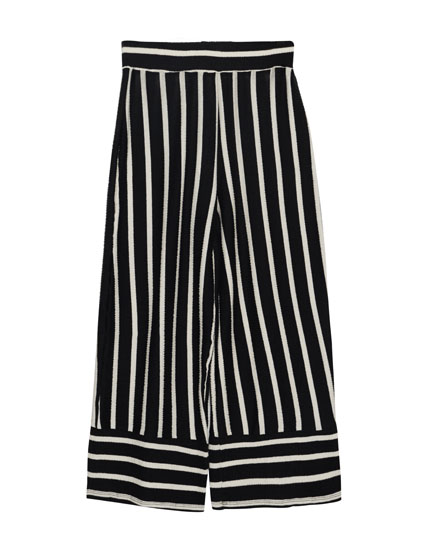 Palazzo trousers with vertical stripes