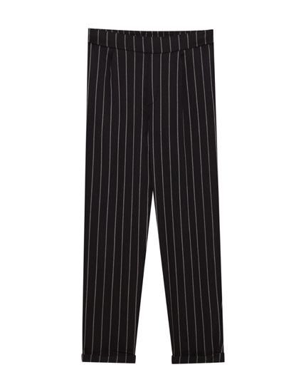 Striped tailored joggers