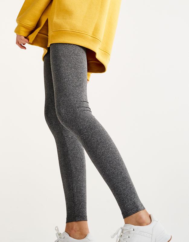 Legging jaspeado